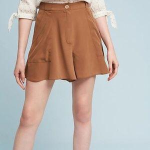 High Waisted Silk Flowy Shorts